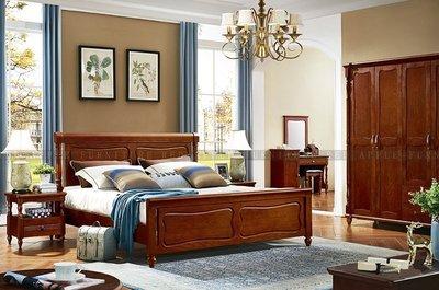 [紅蘋果傢俱] T8901 全實木系列 六尺床 床架 數千坪實體 工廠直營