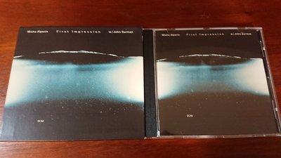 First Impression Misha Alperin john surman1999年經典ecm cd爵士發燒錄音盤寂靜以外最美的聲音ECM1664罕見
