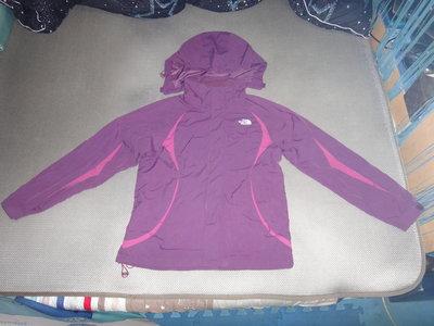 ~保證真品蠻優的 The North Face 北臉 紫色連帽防寒防風外套M號~便宜起標無底價標多少賣多少