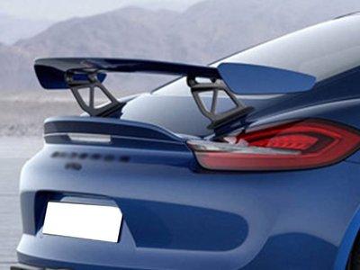 《※台灣之光※》全新 PORSCHE 718 CAYMAN BOXTER 改GT4款式戰鬥大尾翼定風翼免改尾門ABS材質