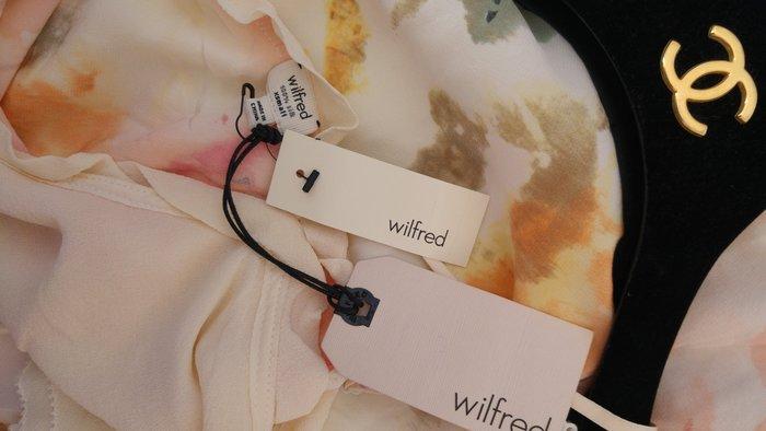 六月美國帶回全新吊牌美金$180 Wilfred 細肩帶純絲印花洋裝
