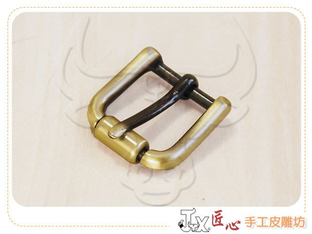 ☆ 匠心 手工皮雕坊 ☆ 2.0cm中鐵環-皮帶頭(刷青古銅) (I20133)