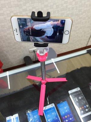 桃紅色 自拍不求人 超輕量 可站立 手機 藍芽自拍棒 伸縮 自拍桿 自拍神器 三腳架 可站立腳架 Zenfon 索尼