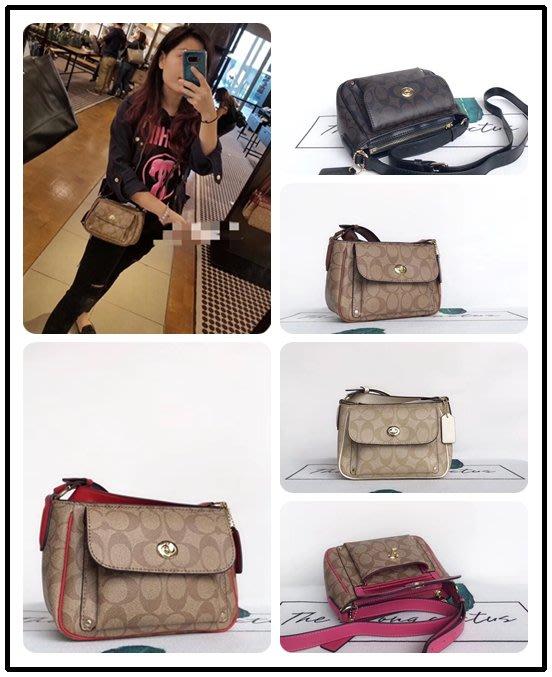 NaNa代購 COACH 31454 新款女士單肩斜跨包 百搭時尚 小巧實用 可放長夾 外置插袋 附購證