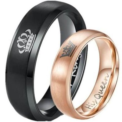 coi jewelry tungsten carbide king queen wedding band ring 戒指with all sizes