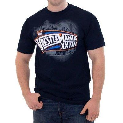 ☆阿Su倉庫☆WWE摔角 Wrestlemania Navy Blue T-Shirt WM28摔角狂熱海軍藍紀念衣出清