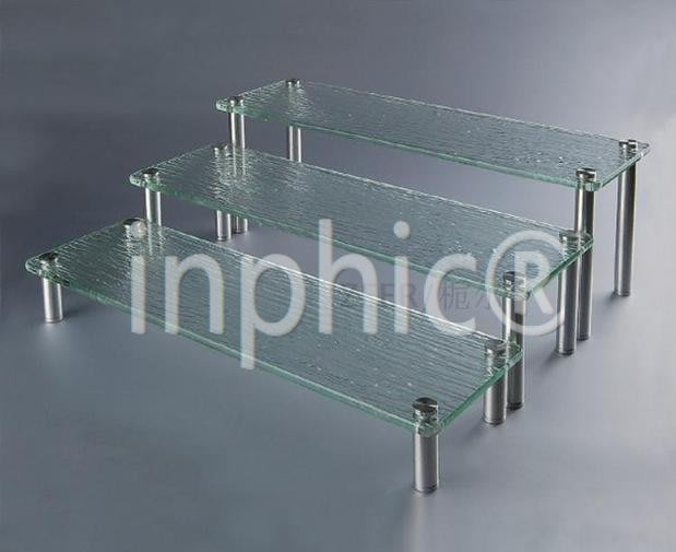 INPHIC-壓克力 有機玻璃三層點心架 自助餐分層三層食物架 中款