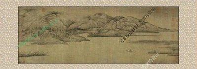 【64*180cm】【卷軸畫】字畫 五代 董源瀟湘圖1:1 已裝裱國畫客廳裝飾畫商務禮品【180820_202】