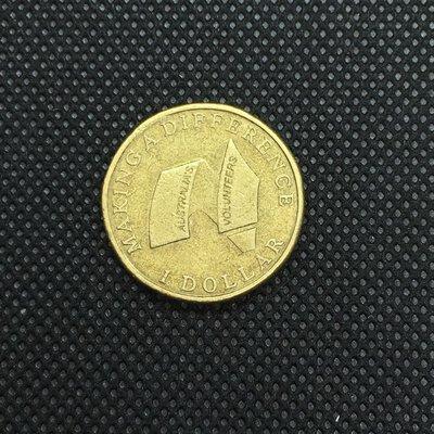 澳洲 2003年 紀念澳大利亞志願者 $1 紀念幣 / 錢幣 銅幣