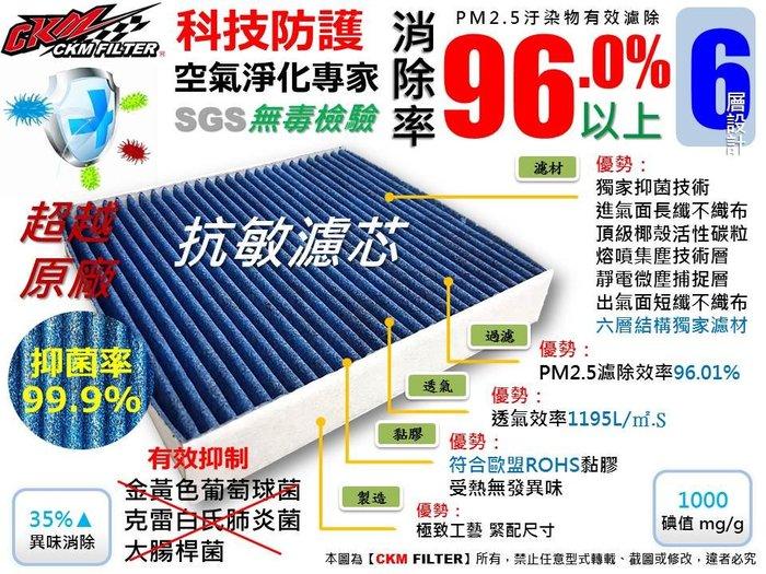 【CKM】鈴木 SUZUKI SWIFT 1.5 05-10 抗菌 抗敏 PM2.5 活性碳冷氣濾網 靜電濾網 空氣濾網