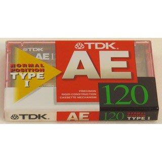 【阿嚕咪電器行】TDK AE120 錄音帶 空白錄音帶(一盒10入不拆開賣)