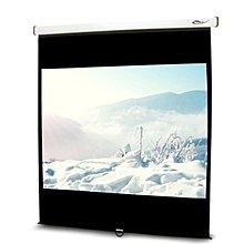 《名展影音》流線型輕巧 UNICO雅典娜系列CA-H100(1:1) 100吋手動席白壁掛布幕