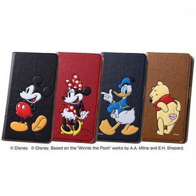 尼德斯Nydus~* 日本迪士尼 米妮 小熊維尼 唐老鴨 Xperia Z5 手機殼 保護殼 可立式 翻頁皮套 票卡夾