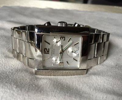 小小時尚家.真品迪奧超時尚三眼鋼帶錶款中型款粗鍊厚實男錶..HERMES時尚超值價!