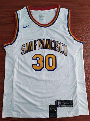 史蒂芬·柯瑞(Stephen Curry) NBA金州勇士隊 球衣 30號 新賽季版 白色