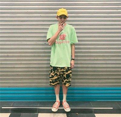 A BATHING APE BAPE CAMO SHORTS 鯊魚 黃 綠 藍 紫 迷彩 休閒 短褲 運動褲 男女