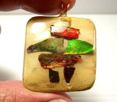 小風鈴~天然頂級魔法石象牙斑彩石墜子(重:10.3g)李居明推薦 發達石(致勝心願的魔法石)