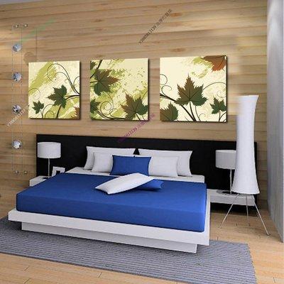 【60*60cm】【厚0.9cm】浪漫楓葉-無框畫裝飾畫版畫客廳簡約家居餐廳臥室牆壁【280101_432】(1套價格)
