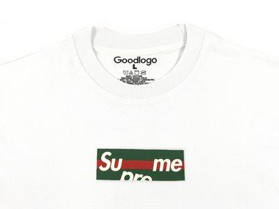 Cover Taiwan 官方直營 翻玩 Box Logo 短袖 短Tee Supreme GUCCI 白色 (預購)