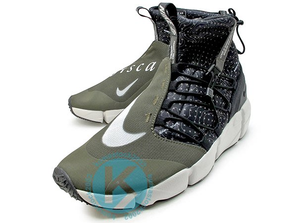 NIKE AIR FOOTSCAPE MID UTILITY 高筒 墨綠 NSW 呂布 靴型 924455-001