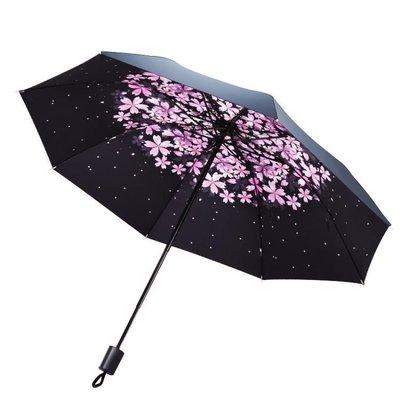 ☜男神閣☞晴雨兩用雨傘太陽傘防曬防紫外線黑膠折疊超輕女韓國小清新遮陽傘