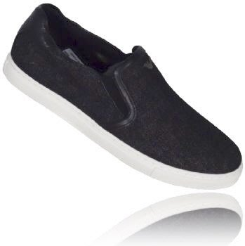 喬瑟芬【Armani Jeans】現貨~2016春夏 黑色單寧 Denim  Slip On Sneakers 休閒鞋