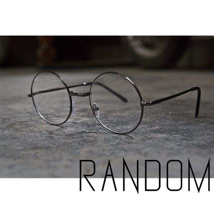 【RANDOM】【復古造型圓框平光眼鏡】 文青 情侶 平光 無度數眼鏡 小清新 (送鏡盒)