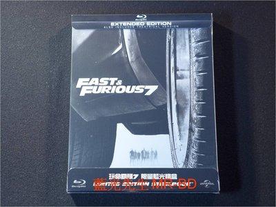 [藍光BD] - 玩命關頭7 Furious 7 限量鐵盒版 ( 台灣正版 ) - 保羅沃克