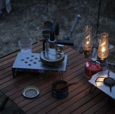 soto ST-310 戶外折疊爐白黑蜘蛛露營野餐鈦板隔熱桌小方桌收納包便攜桌椅