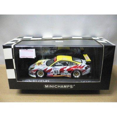 MINICHAMPS 1/43 PORSCHE 911 GT3 RS LE MANS 24hrs 2003 GT GLASS #93 (05116)
