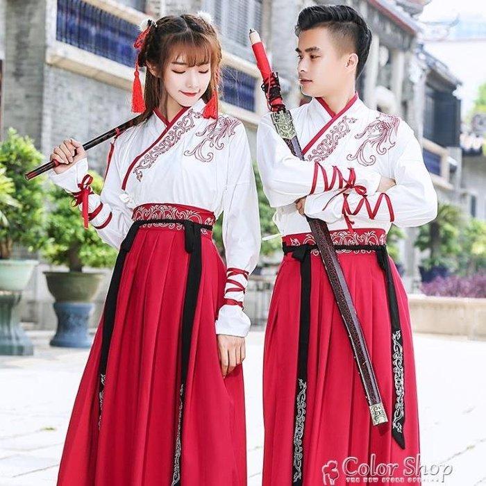 漢服女仙氣飄逸古風冬裝古裝超仙改良漢元素武俠情侶裝中國風學生 一件免運