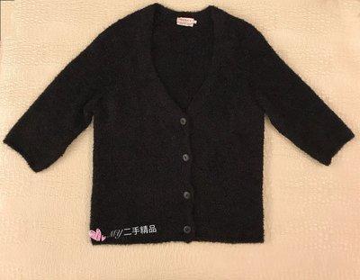 MAX & Co. 毛毛外套 六分袖 黑色 M號 甜美 可愛😘