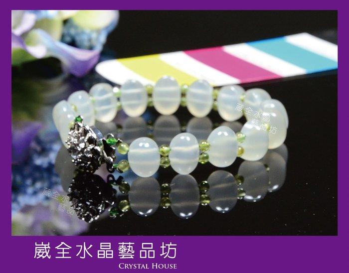 【崴全水晶】頂級 月光石 祼石 手排 【7.5*11.5 mm】