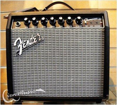 『立恩樂器』Fender champion 20 電吉他 音箱 吉他音箱 20瓦