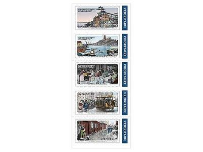 2017年瑞典畫家Anders Fogelström百年誕辰自黏郵票booklet
