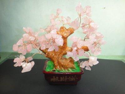 【競標網】漂亮天然粉水晶招財樹(小)風...