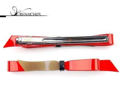 BHI1133-法國品牌RenaChris 雙色蝴蝶結長髮夾 瀏海夾 鴨嘴夾【韓國製】
