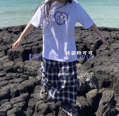 【集千】韓國桃可可 韓國直郵a piece of cake APOC印花小熊短袖T恤
