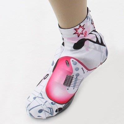 自行 車 鞋套 運動鞋 套-舒適耐磨時尚吉他印花運動用品73nv11[獨家進口][米蘭精品]
