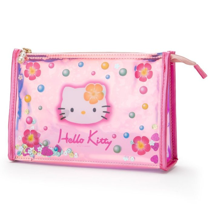 45週年 PVC透明款《預購》Coco馬日本代購~ 日本三麗鷗 正版 凱蒂貓 筆袋 收納包 化妝包 鉛筆盒 船形