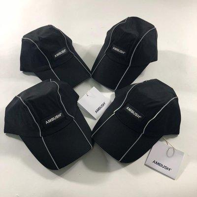 全新AMBUSH REFLECTOR CAP 經典Logo 皮革字體 五分割帽 老帽
