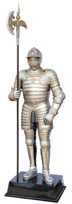 點點蘑菇屋{大型擺飾}1:1真人大小長斧鐵甲武士 盔甲武士 全身盔甲 希臘 中古世紀歐洲羅馬武士 鋼甲武士 現貨 免運費