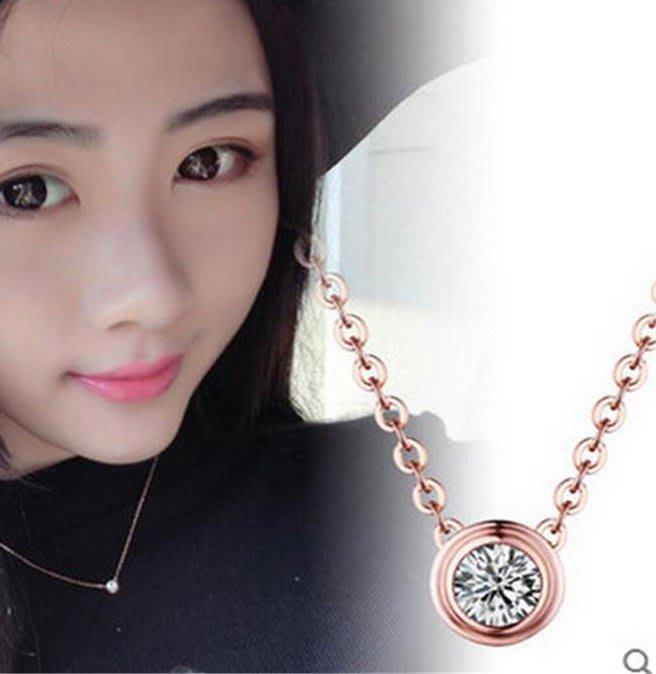 [靚妞兒小舖]鑽石項鏈鎖骨項鍊頸項鏈項鍊項鏈飾品~全館599免運~現貨