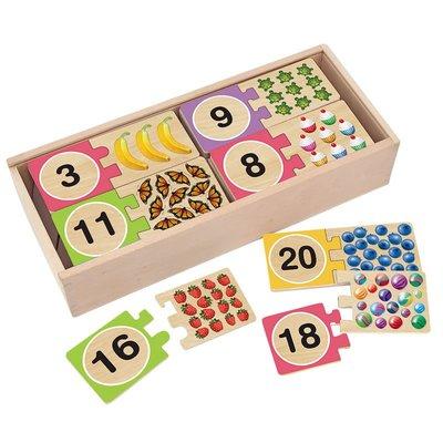 【晴晴百寶盒】美國進口數量對應拼圖 Melissa&Doug扮演角系列手眼協調生日禮物家家酒 益智遊戲玩具W676