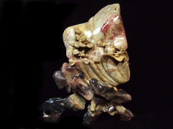 藏雅軒-早期收藏-昌化雞血石-獅吼