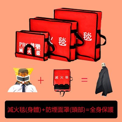 台灣製造 滅火毯 防火毯 餐廳 家庭 辦公場所 電銲 滅火 撲滅火源 防災用品 75cmx100cm