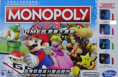 HASBRO MONOPOLY GAMER 快速成交地產投資遊戲 大富翁 冒險大挑戰 59709 (EPC-1410-60M)