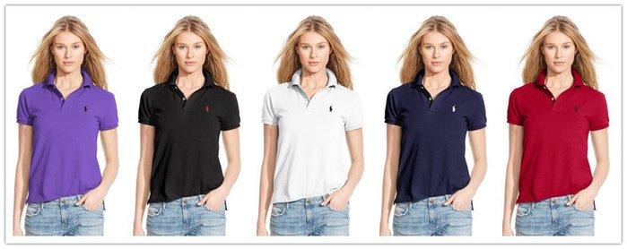 【Polo Ralph Lauren】RL 基本款 短袖POLO衫 刺繡小馬 純棉 素面網眼POLO衫 女生 女裝大人