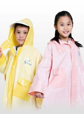【 shich上大莊】麗格兒童塑膠前開式雨衣 紅/黃格可選  批購2件優惠390元