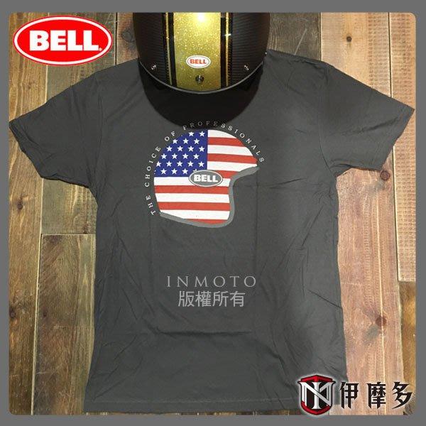 伊摩多※美國 BELL CAP'N AMERICA 灰 100% 綿 短T恤 現貨~另有其他款!! 美國旗 安全帽 重機
